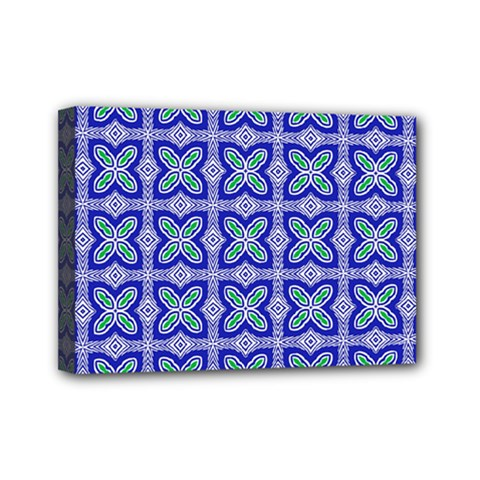 Cute Pretty Elegant Pattern Mini Canvas 7  X 5  (framed) by creativemom
