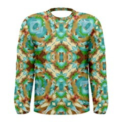 Colorful Modern Pattern Collage Long Sleeve T Shirt (men)