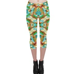 Colorful Modern Pattern Collage Capri Leggings  by dflcprintsclothing