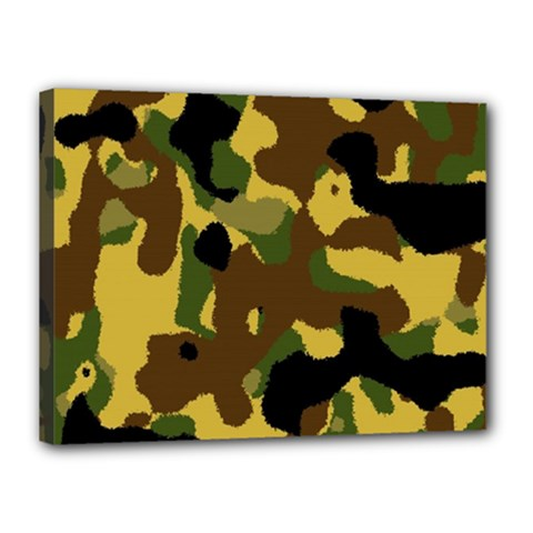 Camo Pattern  Canvas 16  X 12  (framed) by Colorfulart23