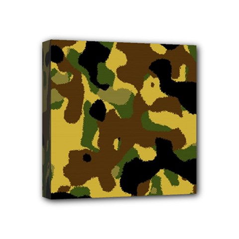 Camo Pattern  Mini Canvas 4  X 4  (framed) by Colorfulart23