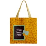 Foodie Zipper Tote 1 - Zipper Grocery Tote Bag