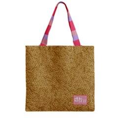Zipper Grocery Tote Bag