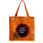 Tangerine Breeze Zipper Tote 1 - Zipper Grocery Tote Bag