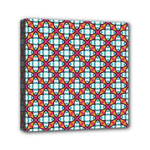 Cute Pretty Elegant Pattern Mini Canvas 6  X 6  (framed) by creativemom