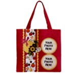 At the Park Zipper Tote 1 - Zipper Grocery Tote Bag