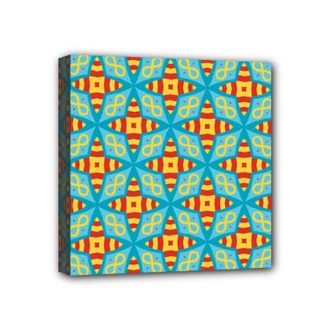 Cute Pretty Elegant Pattern Mini Canvas 4  X 4  (framed) by creativemom