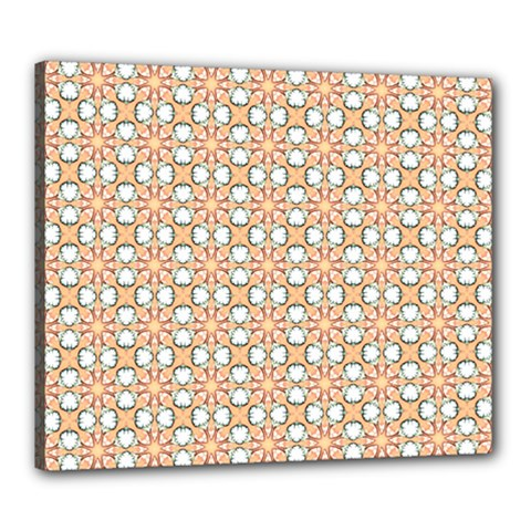Cute Pretty Elegant Pattern Canvas 24  X 20  (framed) by creativemom