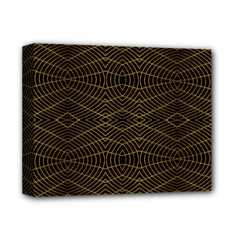 Futuristic Geometric Design Deluxe Canvas 14  X 11  (framed) by dflcprints
