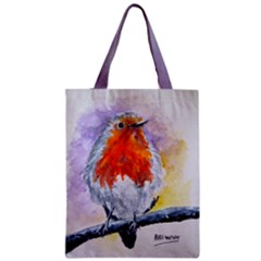 Robin Redbreast Classic Tote Bag 17.5  by 13.5  by ArtByThree