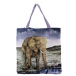 Elephant Grocery Tote Bag 16  x 16