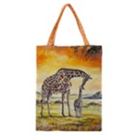 Giraffe Mother & Baby Classic Tote Bag