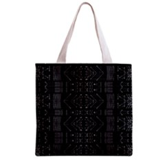 Black and White Tribal  Grocery Tote Bag