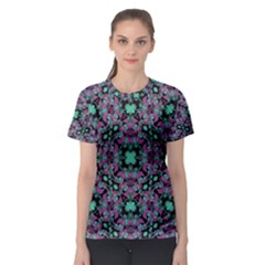 Floral Arabesque Print Women s Sport Mesh Tee by dflcprintsclothing