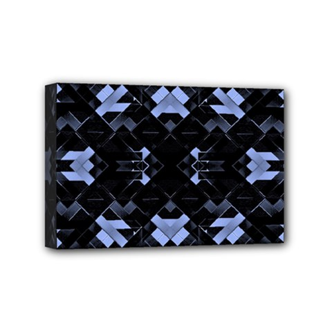 Futuristic Geometric Design Mini Canvas 6  X 4  (framed) by dflcprints