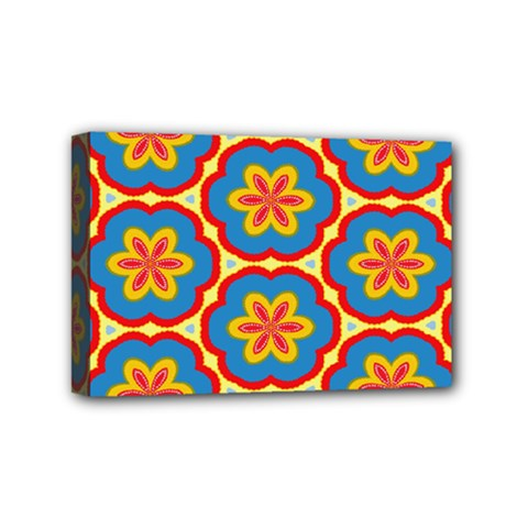 Floral Pattern Mini Canvas 6  X 4  (stretched) by LalyLauraFLM
