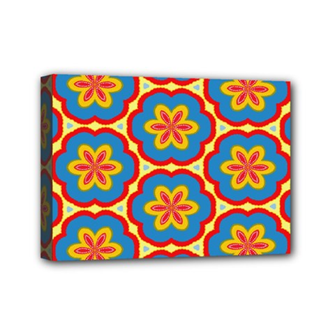 Floral Pattern Mini Canvas 7  X 5  (stretched) by LalyLauraFLM
