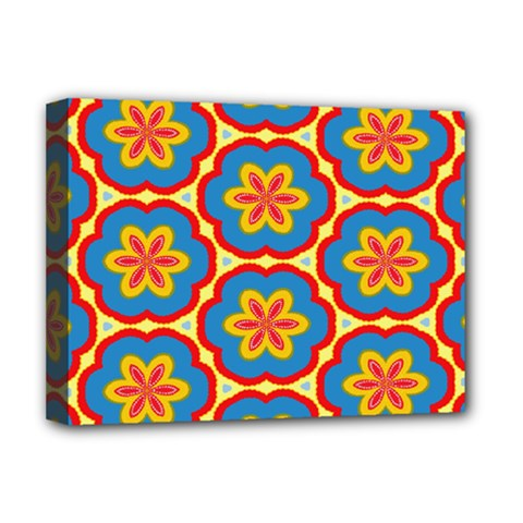 Floral Pattern Deluxe Canvas 16  X 12  (stretched)  by LalyLauraFLM