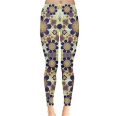 Modern Fancy Baroque Print Leggings  by dflcprintsclothing