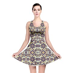 Modern Fancy Baroque Print Reversible Skater Dress by dflcprintsclothing