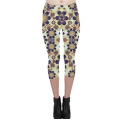 Modern Fancy Baroque Print Capri Leggings  by dflcprintsclothing