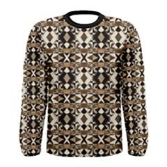 Geometric Tribal Print Long Sleeve T Shirt (men) by dflcprintsclothing