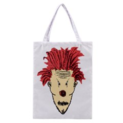 Evil Clown Hand Draw Illustration Classic Tote Bag by dflcprints