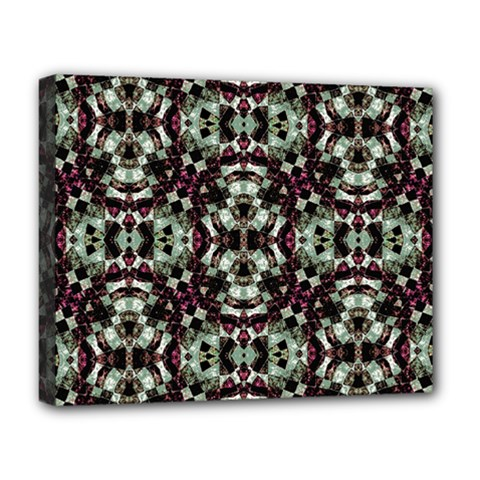 Geometric Grunge Deluxe Canvas 20  X 16  (framed) by dflcprints