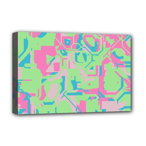 Pastel Chaos Deluxe Canvas 18  X 12  (stretched) by LalyLauraFLM