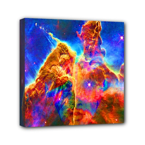 Cosmic Mind Mini Canvas 6  X 6  (framed) by icarusismartdesigns