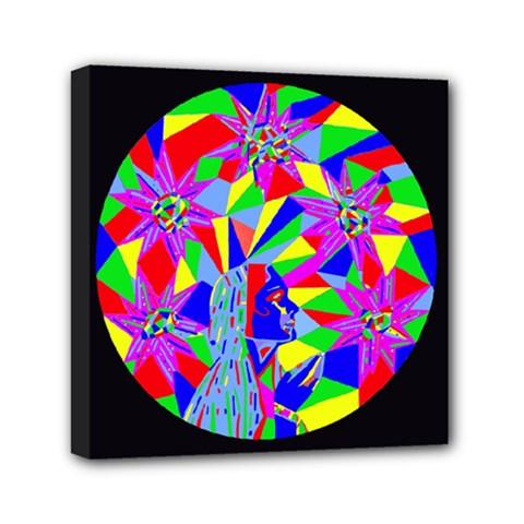 Star Seeker Mini Canvas 6  X 6  (framed) by icarusismartdesigns