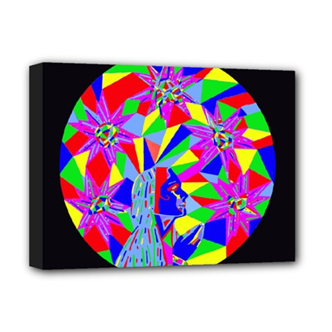 Star Seeker Deluxe Canvas 16  X 12  (framed)  by icarusismartdesigns