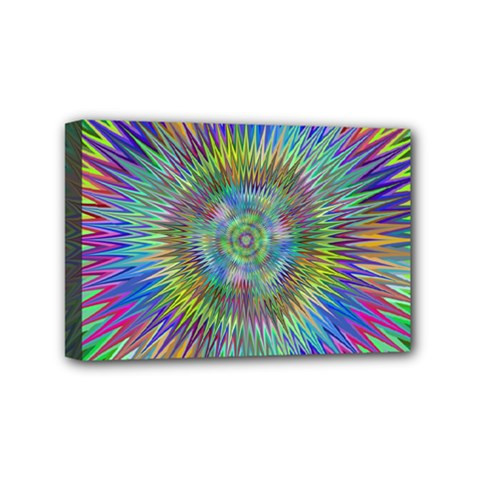 Hypnotic Star Burst Fractal Mini Canvas 6  X 4  (framed) by StuffOrSomething