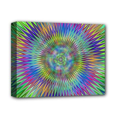 Hypnotic Star Burst Fractal Deluxe Canvas 14  X 11  (framed) by StuffOrSomething