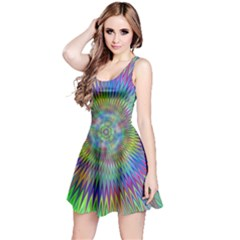 Hypnotic Star Burst Fractal Sleeveless Dress by StuffOrSomething