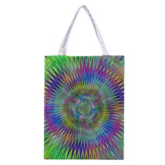 Hypnotic Star Burst Fractal Classic Tote Bag by StuffOrSomething