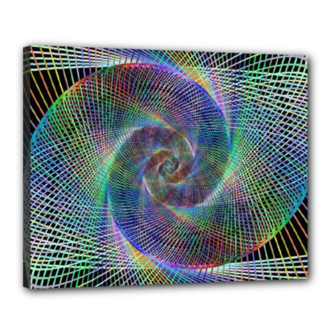 Psychedelic Spiral Canvas 20  X 16  (framed) by StuffOrSomething