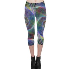 Psychedelic Spiral Capri Leggings  by StuffOrSomething
