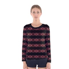 Tribal Ornate Print Long Sleeve T-shirt (Women) by dflcprintsclothing