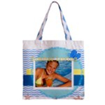 summer - Zipper Grocery Tote Bag