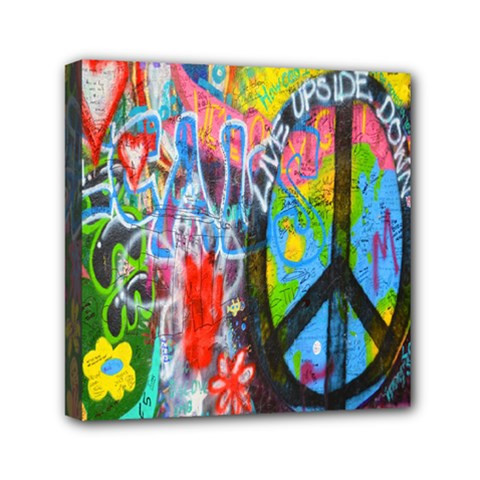 The Sixties Mini Canvas 6  X 6  (framed) by TheWowFactor