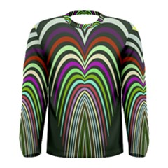 Symmetric Waves Men Long Sleeve T Shirt by LalyLauraFLM