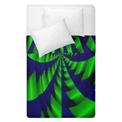 Green Blue Spiral   Duvet Cover (single Size) by LalyLauraFLM