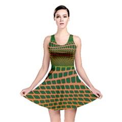 Distorted Rectangles Reversible Skater Dress