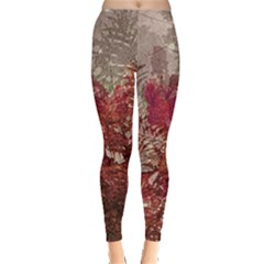 Floral Print Collage  Leggings  by dflcprintsclothing