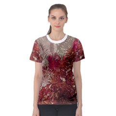 Floral Print Collage  Women s Sport Mesh Tee by dflcprintsclothing