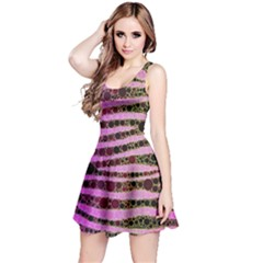 Hot Pink Black Tiger Pattern  Sleeveless Dress by OCDesignss
