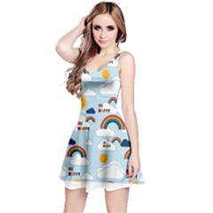 Be Happy Repeat Sleeveless Dress by Kathrinlegg