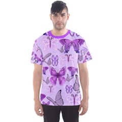 Purple Awareness Butterflies Men s Sport Mesh Tee by FunWithFibro