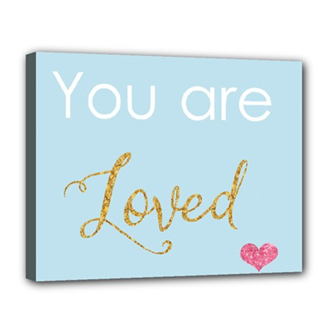 You Are Loved Canvas 14  X 11  (stretched) by Kathrinlegg